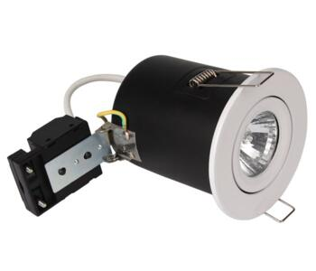 Gloss White Fire Rated Downlight Adjustable GU10 - Fitting Only