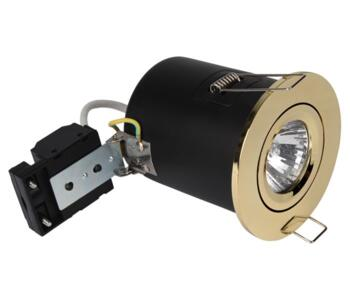 Polished Brass Fire Rated Downlight Tilt GU10 - Fitting Only