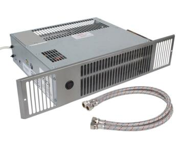 Stainless/White Central Heating Plinth Heater  - Max. 1.9kW (6500Btu) - Room Size 46m3