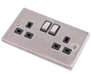 Stainless Steel Socket Black Insert - Double