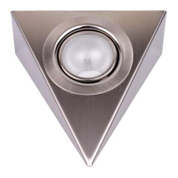 Low Voltage Triangular Undercabinet Downlight - 1 Fitting Stainless Steel