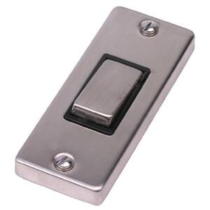 Stainless Steel Architrave Light Switch - Single - 1 Gang