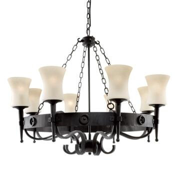 Cartwheel Ceiling Light - 8 Light - 0818-8BK - Matt Black Finish