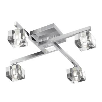 Sculptured Ice Ceiling Light - 4 Light 1014-4CC - Chrome Finish