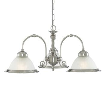 American Diner Ceiling Light - Satin Silver 1043-3 - Satin Silver