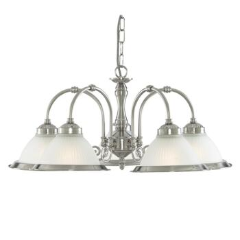American Diner Ceiling Light - Satin Silver 1045-5 - Satin Silver
