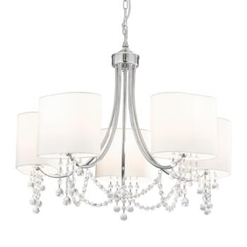 Nina Chandelier Ceiling Light - 5 Light 1055-5CC - Chrome Finish