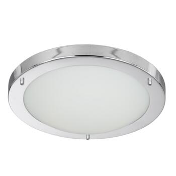 Flush Bathroom Ceiling Light - Chrome 28W 10633CC - Chrome Finish