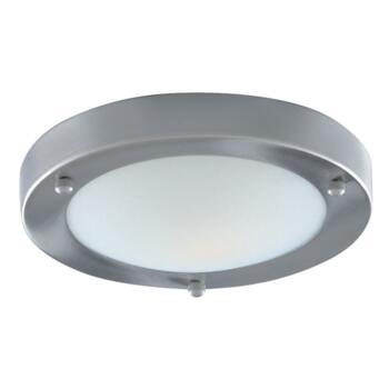 Bathroom Ceiling Light - IP44 Satin Silver 60W - 1131-31SS