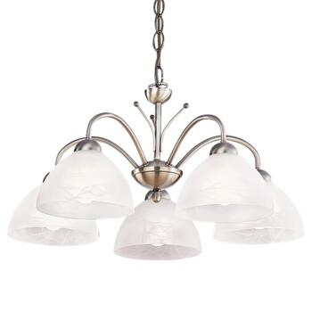 Milanese Ceiling Light - 5 Light 1135-5AB - Antique Brass