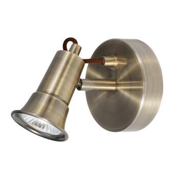 Gaia Spotlight - Single Light Halogen 1221AB - Antique Brass Finish