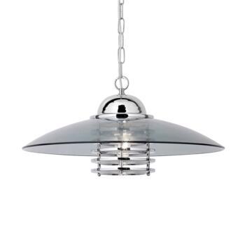 Coolie Ceiling Light - Single Light Pendant 1300CC - Chrome Finish