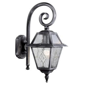 Genoa Outdoor Wall Light - Porch Light 1515 - Black Silver Finish
