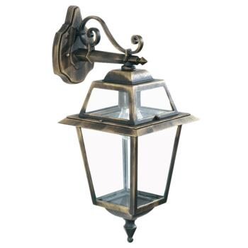 New Orleans Outdoor Wall Light - Lantern 1522 - Black Gold Cast Aluminium