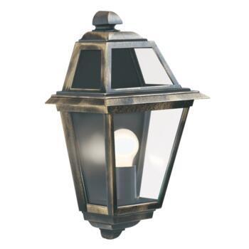 New Orleans Outdoor Wall Light - Half Lantern 1523 - Black Gold Cast Aluminium