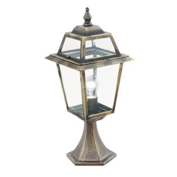 New Orleans Outdoor Post Light - Garden Light 1524 - Black Gold Cast Aluminium
