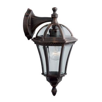 Capri Outdoor Wall Light - Garden Downlight 1563 - Rustic Brown Cast Aluminium