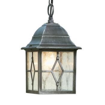 Torino Porch Lantern - Outdoor Wall Light 1641 - Black Silver Finish