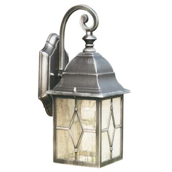 Torino Outdoor Wall Light - 60W Lantern Light 1642 - Black Silver Finish