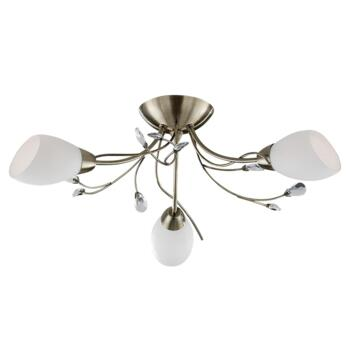 Gardenia Ceiling Light - Antique Brass 1763-3AB - Antique Brass Finish