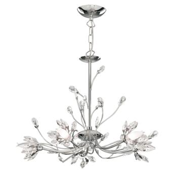 Hibiscus Ceiling Light - 5 Light 1885-5CC - Chrome Finish