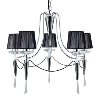 Duchess Ceiling Light - Chrome 5 Light 2085-5CC - Chrome and Black Chrome