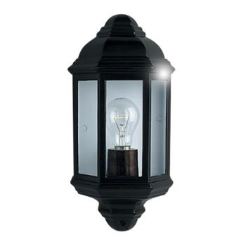 Outdoor Wall Light - Oval Porch Light 280BK - Black Aluminium