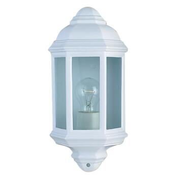 Outdoor Wall Light - Oval Porch Light 280WH - White Aluminium