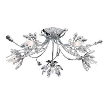 Hibiscus Ceiling Light - Semi-Flush 2885-5CC - Chrome Finish