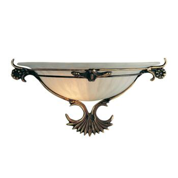 Wall Light - Metal Halogen Wall Washer 3004 - Antique Brass