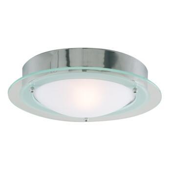 Flush Bathroom Ceiling Light - Chrome 3108CC IP44 60W - Chrome Finish