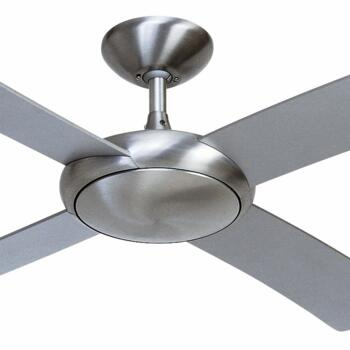 "Fantasia Orion Ceiling Fan - Brushed Aluminium - 44"" (1120mm) With Remote Control"
