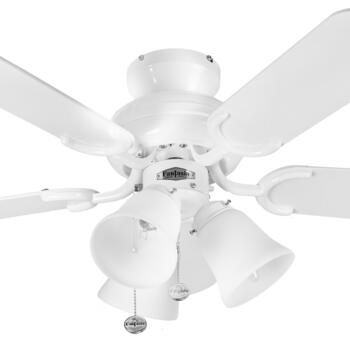 "Fantasia Capri Combi Ceiling Fan - White - 36"" (910mm)"