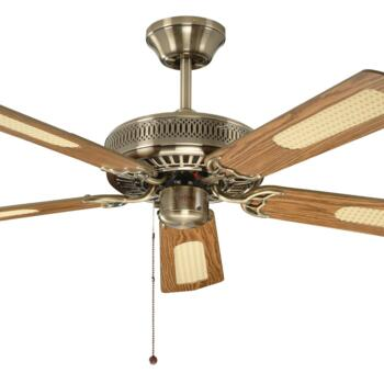 "Fantasia Classic Ceiling Fan - Antique Brass - 52"" (1320mm)"