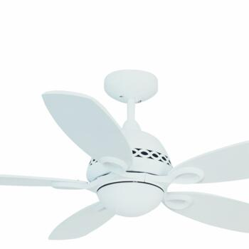 "Fantasia Phoenix Ceiling Fan Light - Matt White - 42"" (1070mm)"