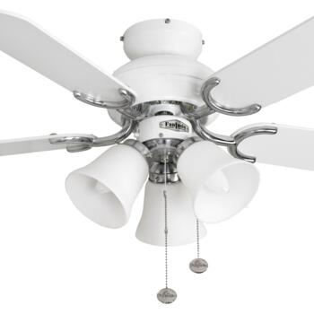 "Fantasia Capri Combi Ceiling Fan - White/Steel - 36"" (910mm)"