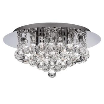 Hanna Ceiling Light - 4 Light Flush 3404-4CC - Chrome Finish