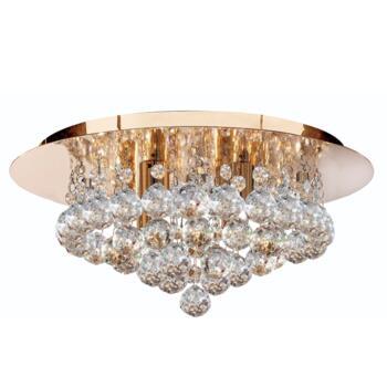 Hanna Ceiling Light - 4 Light Flush 3404-4GO - Gold Finish