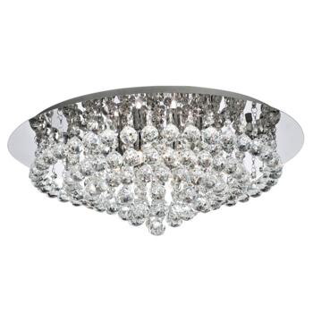 Hanna Ceiling Light - 8 Light Flush 3408-8CC - Chrome Finish