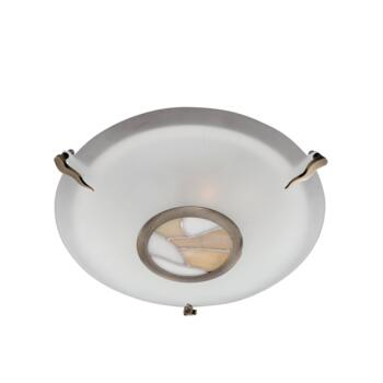 Tiffany Ceiling Light - Flush 36095AM - Antique Brass