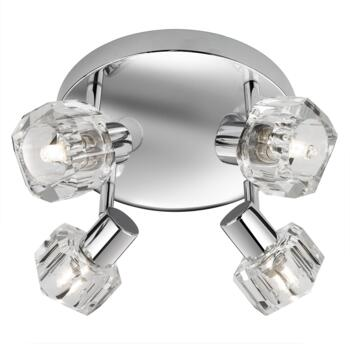 Triton Spotlight - 4 Light Halogen Disc 3764CC - Chrome and Glass