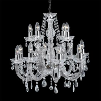 Marie Therese Chandelier - 12 Light Crystal 399-12 - Chrome Finish