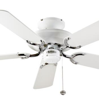 """Fantasia Mayfair Ceiling Fan - White & S/Steel - 42"""" (1070mm)"""