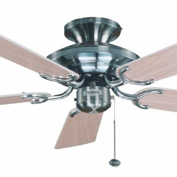 "Fantasia Mayfair Ceiling Fan - Stainless Steel - 42"" (1070mm)"