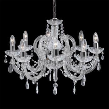 Marie Therese Chandelier - 8 Light Crystal 399-8 - Chrome Finish
