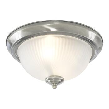 Flush Ceiling Light - 2 Light Flush 4042 - Satin Silver