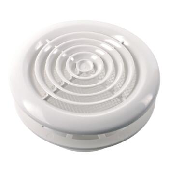 "Round Ceiling Diffuser White Circular Vent Grille - 4"" 100mm"