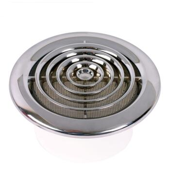 Round Ceiling Diffuser Chrome Circular Vent Grille 100mm