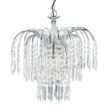 Waterfall Crystal Ceiling Light - 3 Light 4173-3 - Chrome