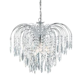 Waterfall Crystal Ceiling Light - 5 Light 4175-5 - Chrome